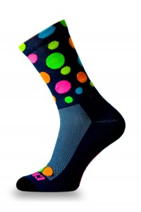 Skarpetki kolarskie HOT-DOT FLUO DARK