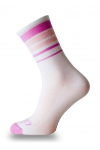 Skarpetki kolarskie PINK STRIPES WHITE